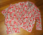NEW MENS NICK & NORA FLANNEL PAJAMA SET CHRISTMAS SOCK MONKEY PRINT sz L or XL