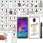 For Samsung Galaxy Note 4 N910 Cute Design TPU Silicone Case Phone Cover + Pen