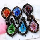 1PC Chic Beauty Boho Flower Lampwork Glass Pendant Bead Murano For SP Necklace