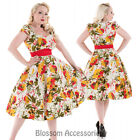 RKH70 Hearts & Roses Rockabilly 50s Mix Floral Summer Cocktail Swing Pinup Dress