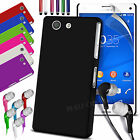 HARD BACK SKIN CASE COVER, LCD FILM, PEN & EARPHONE FOR SONY XPERIA Z3 COMPACT