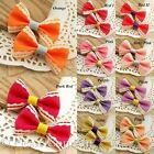 100 Grosgrain Ribbon Bow Girly Wave Scrapbooking/Hair Clip Making