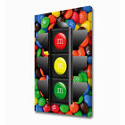 LARGE M&M TRAFFIC LIGHT CANVAS PRINT EZ1014