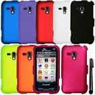 For Samsung Galaxy Rush M830 Rubberized HARD Protector Case Cover Phone + Pen