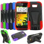 Phone Case For ZTE Emblem Rugged Hard Cover Kickstand