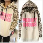 Causal Women Hoodies Sweatshirt Leopard Tops Blouses Sweater Pullover Outerwear
