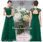 KATIE Emerald Green Lace Bridesmaid Evening Ballgown Dress Sizes UK  8 - 22