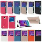 For Samsung Galaxy Note 4 / Note Edge Flip Leather View Window Case Cover Stand
