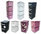 4-Drawer or 2-Drawer Storage Unit Polypropelene Metal Fram Pink/Purple/White x 1