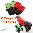 PU Leather Pet Dog Puppy Raincoat Poncho Clothes Apparel Waterproof Hooded New