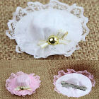 1x Lady's Girl's Lace Bow Mini Top Hat Hair Clip Fascinator Hair Accessories