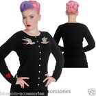 RKP56 Hell Bunny Bloodbird  Cardigan Black Rockabilly Pin Up Vintage 50s Retro
