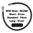 BCD Buoyancy Jacket / DIN QD Dry Suit - DIVE HOSE - 61CM, 74CM 91CM Lengths