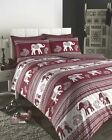 Wine Red Quilt Duvet Cover Bedding Bed Set Polycotton Bed Set Indian - 3 Sizes