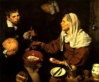 OLD WOMAN FRYING EGGS 1618 PAINTING BY VELAZQUEZ REPRO
