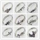 Cool 316L Stainless Steel Travel Silver Best Link Bracelet & Bangle In 12 Style