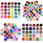 30/48/80 Color Nail Art Fine Glitter Powder Dust Sequins Beads Body Makeup Kit