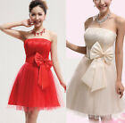 Women's Lady Sexy Party Evening Wedding Bridesmaid Prom Ball Short Dress Formal