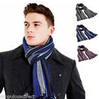 College Striped Scarf Knit Warm Winter Mens Ladies Long Knitted Ribbed Classic