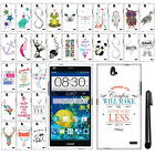 For ZTE Grand X Max Z787 Art Design PATTERN HARD Case Phone Cover + Pen