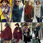 Women Lady Plaid Pashmina Soft Blanket Oversized Tartan Scarf Wrap Shawl Fashion