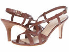 COLE HAAN Womens Bartlett Chic Stacked Heel Sandals Sequoia Leather D41285****