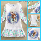 US0522 White Elsa Anna Disney Frozen Gift Birthday Party Girls Dress Age 3 to 8