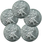 Lot of 5 - 2015 1 Troy Oz .999 Silver American Eagle $1 Coin SKU33770