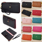 New Ladies Womens Leather Zipper Coin Card Long Wallet Clutch Purse Handbag Bag