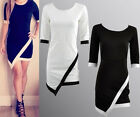 Women Hot Ball Cocktail Party Formal Short Sleeve Prom Evening Asym Sexy Dress