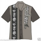 NEW 3 THREE STOOGES MENS FILMSTRIP HAWAIIAN BUTTON DOWN CAMP SHIRT SIZE MD LARGE