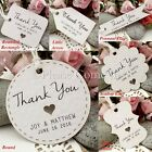 Personalised White Wedding Favour Tags/ Thank You Tags/ Gift Tags with Twine