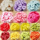 Heart Button 11mm Scrapbooking/Sewing Multiple Colour