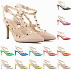 WOMENS PATENT PLATFORM POINT TOE HIGH HEELS WEDGES WEDDING SHOES SIZE 4-11