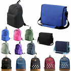 Womens Mens Large Retro Canvas Backpack Rucksack Crossbody Work Laptop Bag