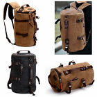 Unisex Retro Canvas Rucksack Laptop Shoulder Travel Hiking Camping Crossbody Bag