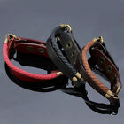 Boho Punk Mens Womens Genuine Leather Cuff Rope Button Bracelet Wrap Wristband