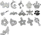 10 Pendants Charms Strass M0314
