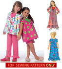 SEWING PATTERN! MAKE PAJAMAS~SHORTY PJS~NIGHTGOWN~NIGHTIE! CHILD 2~5 OR GIRL 6~8