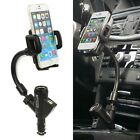 Dual USB Car Cigarette Lighter Charger Socket Holder For Mobile Cell Phone GPS