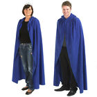 ADULT BLUE LONG HOODED COSTUME CLOAK CAPE ALL SIZE HALLOWEEN MEN or LADIES