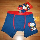 NWT Peanuts SNOOPY Blue Christmas Boxer Briefs w/Gift Bag ~Various Sizes~