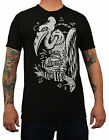 Mens Vulture by Adi Old Buzzard Lowbrow Art Co Tattoo Clothing Black T-Shirt Top