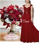 RIVA Lace Chiffon Embellished Bridesmaid Ballgown Dress UK 6 -18 Colour Choices