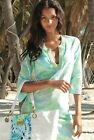 """New Lilly Pulitzer COURTNEY TUNIC Dress S / L """"Spa Blue Get Crackin"""" Coverup NWT"""