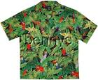 NEW Parrots Toucans Jungle Hawaiian Shirt, Benny's, XL