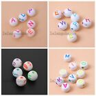 200/1000x Nice Carved Mixed Color Letter/Smiling Face Acrylic Spacer Bead DIY LC
