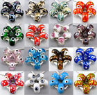 Lot 5Pcs Silver Coin Lampwork Murano Glass Beads Fit European Charms Bracelet