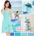 BNWT ISLA Aqua Turquoise Chiffon Prom Evening Bridesmaid Dress UK 6 - 18
