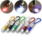 Multifunction 3in1 Mini UV Pen Light LED Flashlight Torch Laser Pointer Keychain